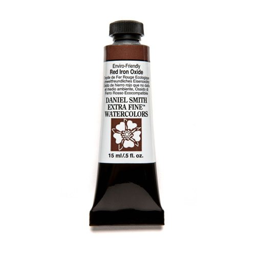 DANIEL SMITH Extra Fine Watercolor 15ml Paint Tube, Enviro-Friendly, Red Iron Oxide
