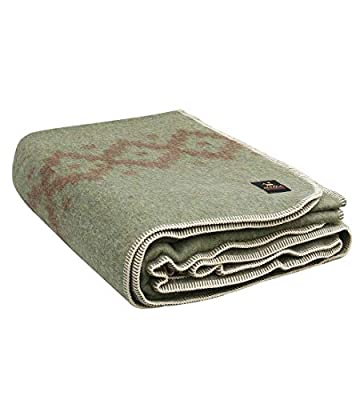Thick Alpaca Wool Blanket Heavyweight Alpaca Wool Blanket Camping Outdoors or Indoors Soft Peruvian Alpaca Wool Blankets That Come in Twin Queen Size Ethnic (Leaf Green - Soft Brown Design, Queen)