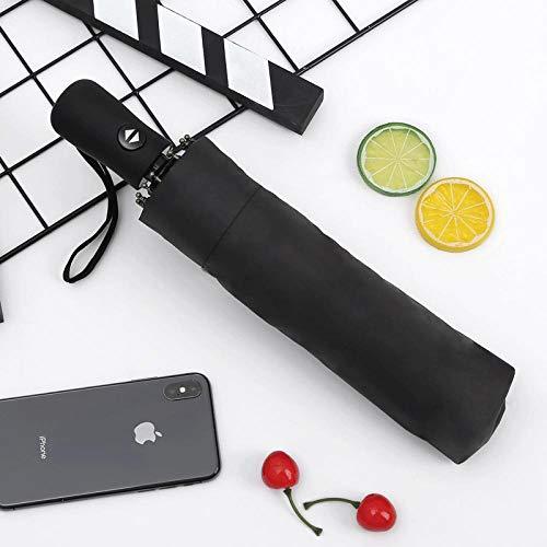 MVBGLK opvouwbare paraplu automatische paraplu 12 bot mannen zakelijke regen en regen dual-use paraplu Aluminum black rubber black