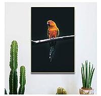 Chenjiaxu 現代の動物の帆布の絵画鳥のオウムの写真研究と農場の部屋の装飾のための装飾的なポスターとプリント壁の芸術-40X60Cmx1フレームなし