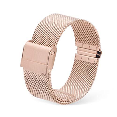 GOLOFEA El Reloj Unisex de la Correa de Metal Reloj de Acero Inoxidable Cadena Malla de Tejido de reemplazo de la Correa de la Correa de Acero de liberación rápida Rose Gold color-19mm