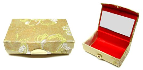 Chinese Clothing & Accessories / Chinese Silk Jewelry Box - Flowers
