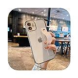 Funda de teléfono suave con correa de muñeca para iPhone 11 12 Mini Pro Max X XR Xs Max 7 8 Plus SE 2020 Kickstand Carcasas cubierta-plata para iPhone 8 Plus