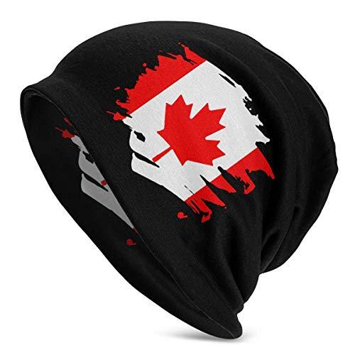 shenguang Canada Paint Splatter Flag Herren Einfarbige Mütze für Damen - Stretchy &...