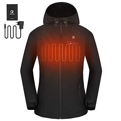 OUTCOOL Beheizte Jacke Damen Beheizbare Heizjacke mit Akku zum Outdoor Arbeiten und Tägliches Tragen (Verpackung MEHRWEG) (XL)