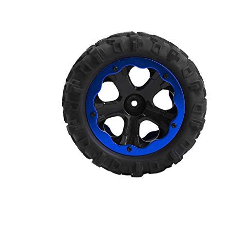 FLAMEER RC Ruedas Neumático de Goma para 1:10 RC Coche Buggy Bigfoot Car