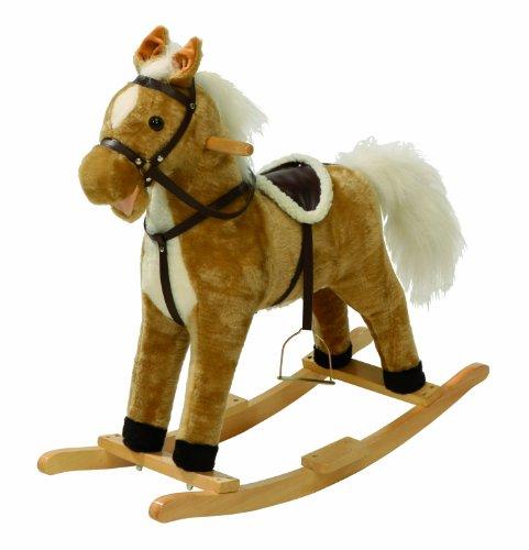 roba Schaukelpferd 'Hoppe Reiter', Schaukeltier mit Polsterung, Schaukelsitz mit Steigbügel und Sattel, Schaukelspielzeug mit Sound ab 24 Monate