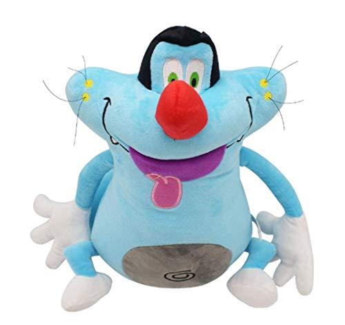 bozhengzb Plüschtier Oggy Und Die Kakerlaken Plüschtier Blue Fat Cat Gefüllte Puppe Geburtstagsgeschenk Für Kinder 38cm