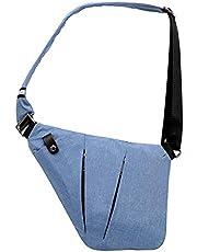 Ovecat Sling bag crossbody axel bröst ryggsäck stöldsäker skärp väskor för män kvinnor
