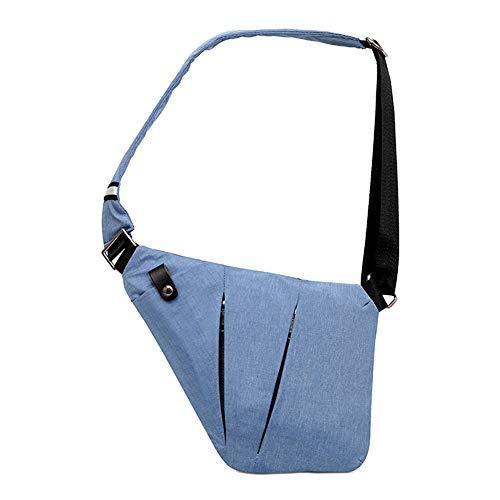Ovecat Umhängetasche, Schultertasche, Brusttasche, Anti-Diebstahl, für Damen und Herren (Blau)