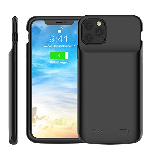 "BasicStock Cover Batteria per iPhone 11 PRO Max 6.5"", 5000mAh Portatile Ricaricabile Esterna Integrata Power Bank Charger Battery Case Protettiva Caricabatteria Custodia (Nero)"