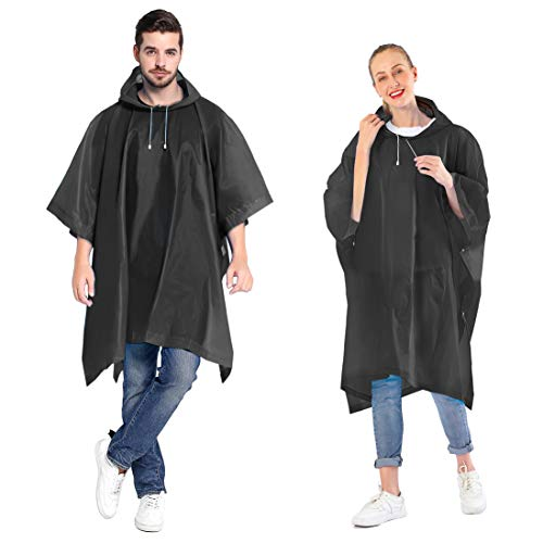 ANTVEE Rain Ponchos for women and men (2 Pack) with Drawstring Hood