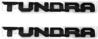 Sanucar 2pcs OEM 14 Inches Tundra Emblems 3D Nameplate Origianl Door Badges for 2013-2018 Sr5 1974 Trd Pro (Black)