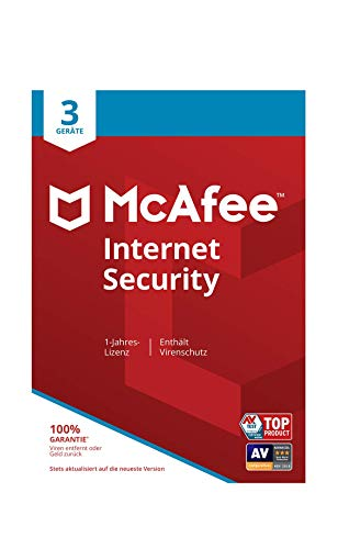 mächtig McAfee Internet Security | 3 Devices | 1 Year | PC / Mac / Smartphone / Tablet | Email Activation Code
