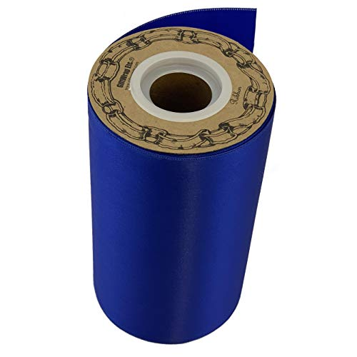 """Grand Opening Royal Blue Ribbon - 6"""" x 25 Yards, Double Wide, Healthcare Worker's Support Ribbon, Christmas, Wreath, 4th of July, Store Front, Police Support, Thin Blue Line, Easter"""