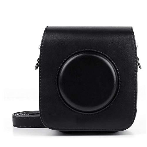 Retro camera tas, PU synthetisch leder voor Fuji Instax Plein SQ10 hybride onmiddellijke camera met verstelbare band,Black