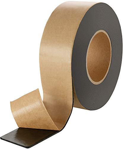 Poppstar doppelseitiges Butyl Klebeband (10m x 50mm x 1,6mm) Dichtband selbstklebend schwarz