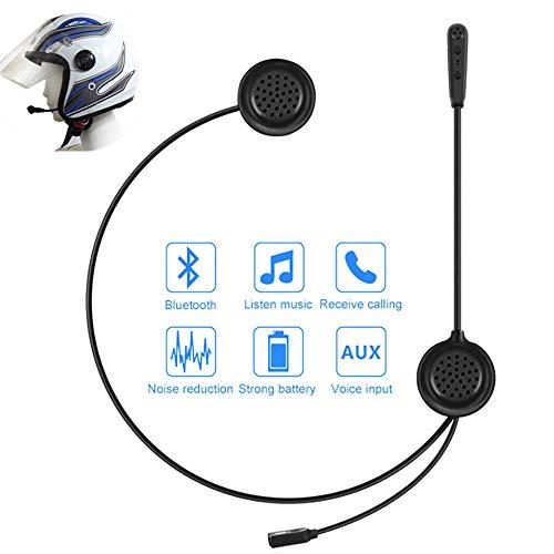 POWERFULM Motocicleta Intercom, Full-Duplex Casco de Bluetooth Wireless Headset Entrada AUX interfono Altavoz HD Auriculares estéreo Bluetooth para Montar a Caballo, Esquí