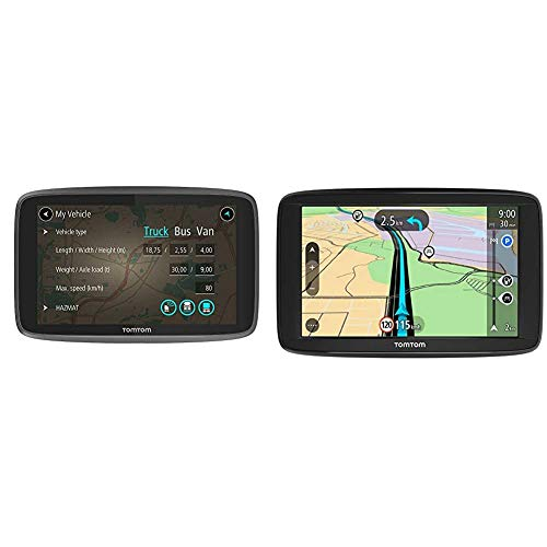 TomTom LKW Navigationsgerät GO Professional 620 (6 Zoll) & Navigationsgerät Start 62 (6 Zoll, Karten-Updates Europa, Fahrspurassistent, TMC, umkehrbare Halterung)