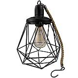 Yard Island Solar LED Edison Bulb Large Hanging Cage Lantern (Style 3)