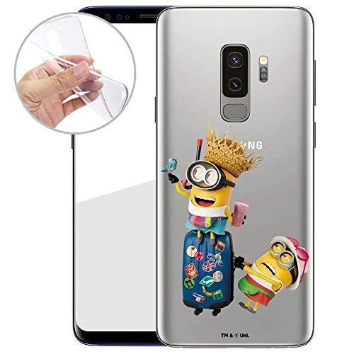 Hülle für Samsung Galaxy S9 Plus - Minions Handyhülle mit Motiv und Optimalen Schutz TPU Silikon Tasche Case Cover Schutzhülle - Reisefertig