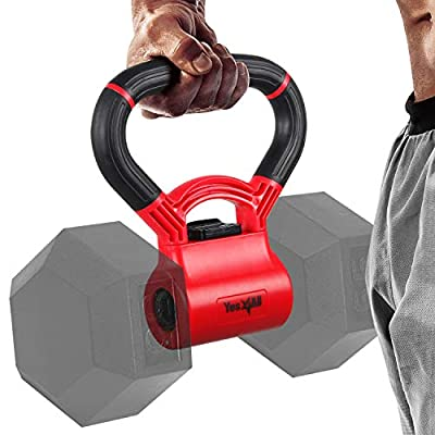 Yes4All Kettlebell Grip - Kettle Grip New Version - Kettle Grip Handle to Convert Dumbbells into Kettlebells for Workouts by Yes4All