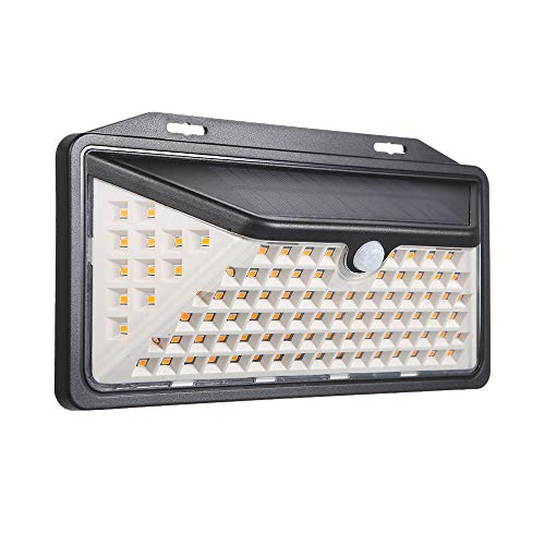 LIXADA ソーラーライト 102LED 長寿命 センサーライト IP65防水 自動点灯消灯 省エネ 3つ照明モード 屋外/庭/玄関/ガーデンライト/駐車場