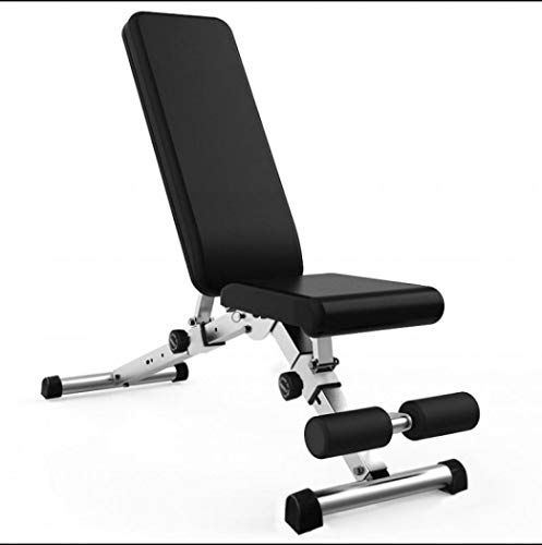 FORIDE Banco de pesas ajustable – Bancos de pesas para entrenamiento de cuerpo completo, banco de entrenamiento abdominal, nivel ajustable, para entrenamiento de máquina