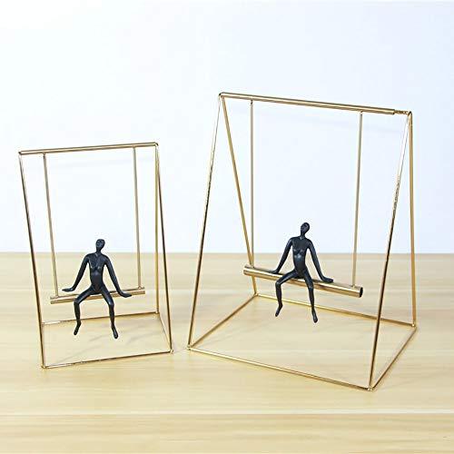 KK Zachary Decoración simple de equilibrio de metal, columpio de oro, decoración creativa, estudio, joyería moderna de artesanía, 27 x 22 x 36 cm (tamaño pequeño: pequeño)