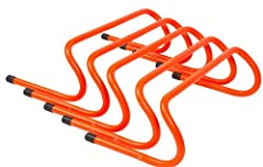 Pack of 5 six inch speed hurdles Great for footwork training Improve foot-speed and tone leg muscles By Trademark Innovations
