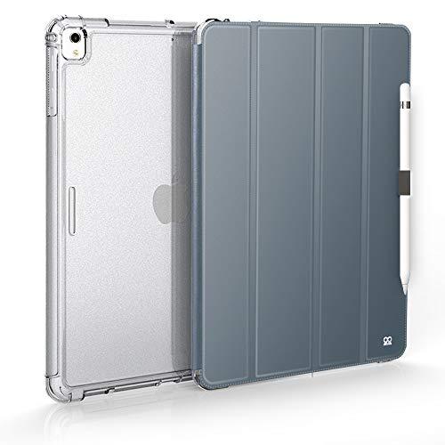 IBROZ - Custodia Rinforzata iGuard Antiurto + Smart Cover iPad PRO 12.9' 2017/2015 (1° e 2° Generazione) - iPad PRO 12.9' (Nero) Grigio Grigio