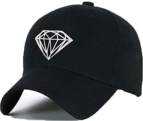Bonnet Casquette Snapback Baseball DIAMOND YOUR MOM OMG 1994 Hip-Hop en Noir/Blanc avec les ASAP Bad Hair Day