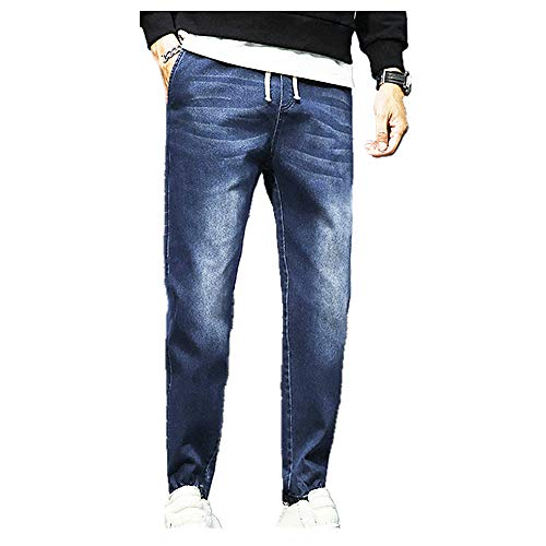 N\P Jeans Leggings de banda elástica casual para hombre