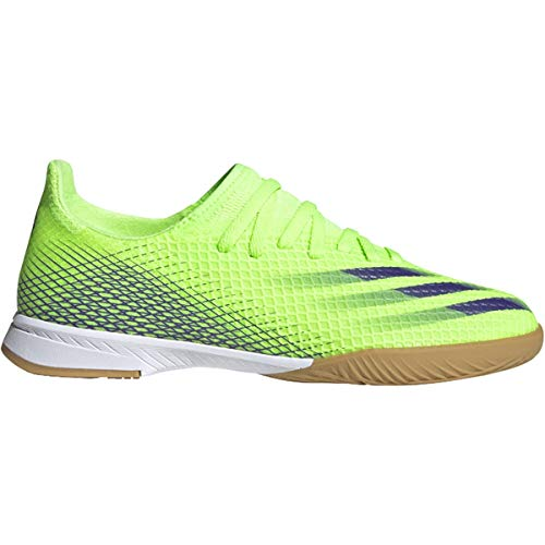 adidas X Ghosted 3 Indoor ShoesSignal Green/Energy Ink3.5
