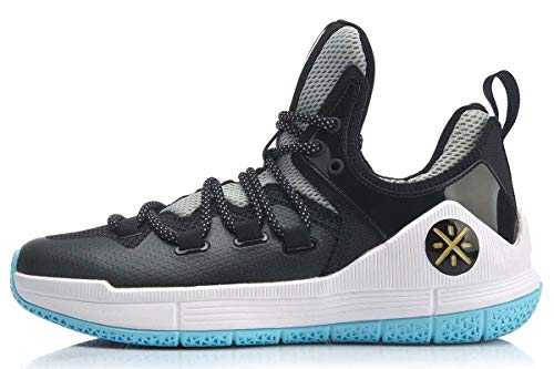 LI-NING Herren Wade The Sixth Professionelle Basketballschuhe Futter Atmungsaktiv Anti-Rutsch Athletic Schuhe ABAN023 ABAP017, (The 6th Black White Abap017-1h), 41 EU