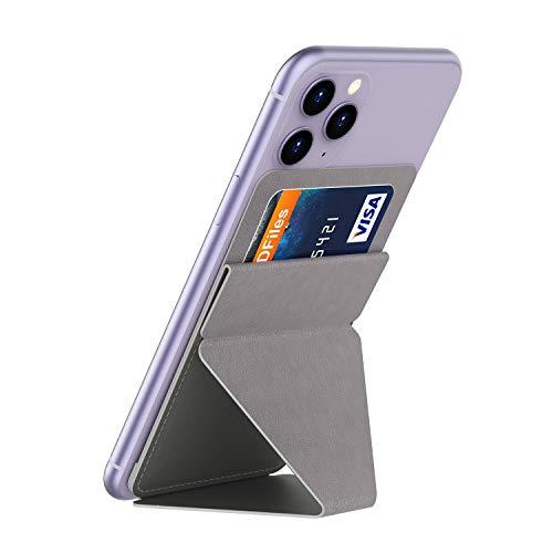 TINICR Handy Fingerhalter Ständer mit Kartenfach, 60° & 40°-zweidimensionale Winkel Handy Halter Kartenhalter Smartphone Halterung Handyhalter Kompatibel mit 5,5 Zoll oder Größer Handys/Tablettes
