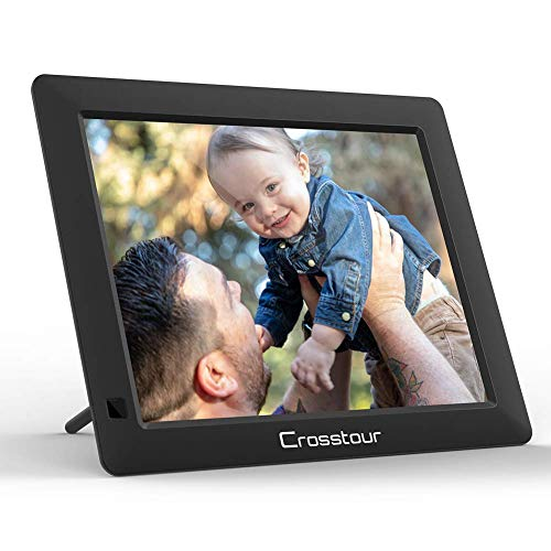 Digital Picture Frame, Crosstour 8 Inch Electronic Photo Frame, Music / Video / Calendar / Alarm, 4:3 HD Display with Remote Control, Automatic Rotation, Christmas / New Year / Birthday Gift