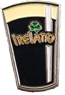Spilla in metallo smaltato con bicchiere di birra irlandese Guinness