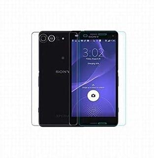 جلاس - حامي شاشة بقوة حماية زجاجية مقاوم للكسر لجوال سوني زد1 كومباكت (2في1)،Sony Xperia Z1 Compact