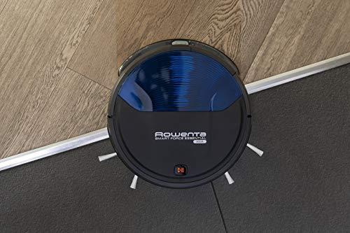 Rowenta RR6971 Smart Force Essential Aqua Saug- und Wischroboter, 2in1 Roboter-Staubsauger mit Wischfunktion, hohe Saugleistung auf allen Böden, bis zu 150 Minuten Laufzeit,  Schwarz/Dunkel blau - 4