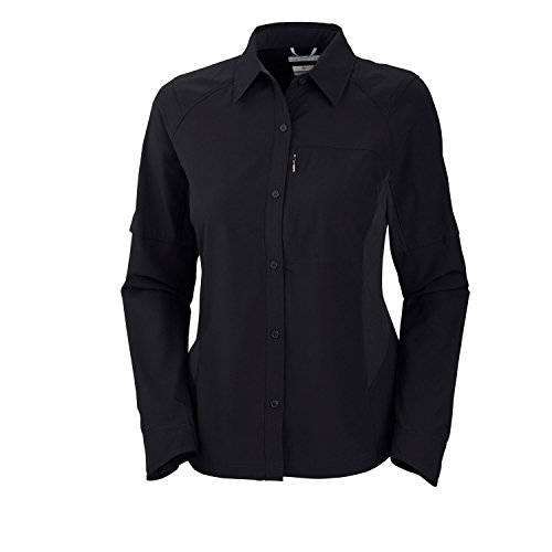 Columbia Silver Ridge Long Sleeve Shirt Damen Bluse, Black, M, 1443231