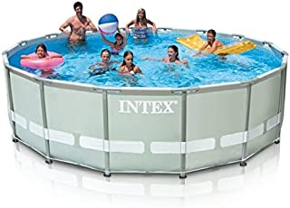 Intex Ultra Frame Pool 14ft X 42in With Filter Pump, Ladder, Ground Cloth, Pool Cover - 26310