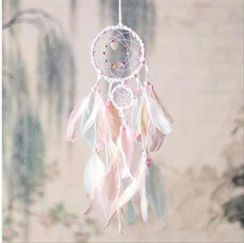 tytl dromenvanger creatief roze leer wind deurbel indianen hanger decoratie wandbehang wind meisje verjaardag geschenken binnendecoratie
