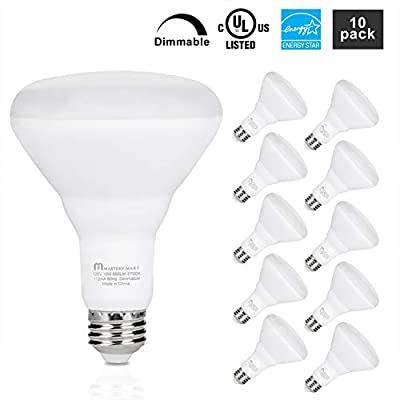 Mastery Mart BR30 LED 65W Flood Light Bulb, 10W Dimmable, Wide Floods Light Bulbs with E26 Screw Base, UL and Energy Star, Pack of 10