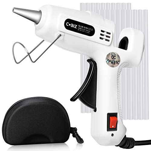 Hot Glue Gun with Glue Sticks-360° Full Tube Rapid Heating,Smooth Flow,On/Off Switch,Hot Melt Glue Gun Kit for Kids Crafting,Home Holiday Decoration (Mini 25W)