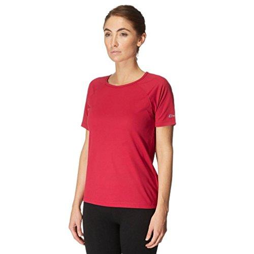 Berghaus Essential T-Shirt à Manches Courtes et col Rond pour Femme Rose Rouge Cerise Size 10