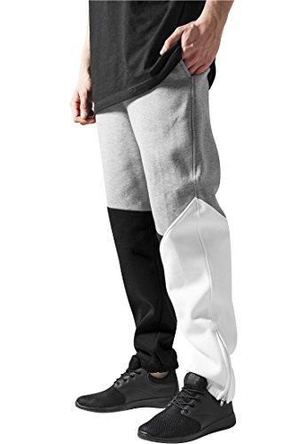 Urban Classics Herren Jogginghose Zig Zag Sweatpants TB286 Urban Fit, Black/Grey/White, L