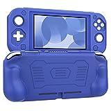 MoKo Funda Compatible con Nintendo Switch Lite, Cubierta Protectora de Silicona con Mango Rellenos Integrados de Diseño Ergonómico Durable Cómodo Compatible con Nintendo Switch Lite 2019, Azul
