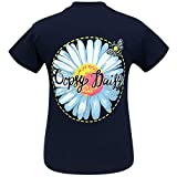 Girlie Girl Originals Oopsie Daisy Navy Short Sleeve T-Shirt (X-Large)