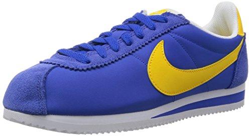 Nike Classic Cortez Nylon, Zapatillas de running para hombre, Azul/Amarillo/Blanco (Varsity Royal/Vrsty Mz/White), 38.5 EU
